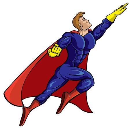 Super hero flying  Stock Vector - 4918000