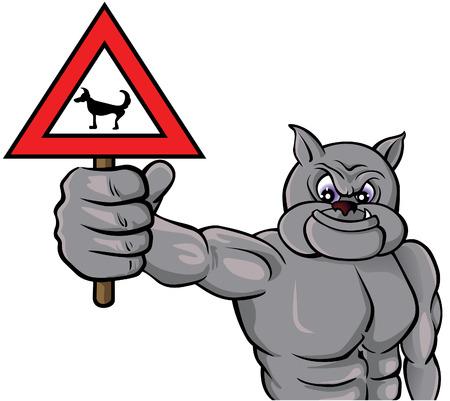 fighting dog: Attenzione con il cane!