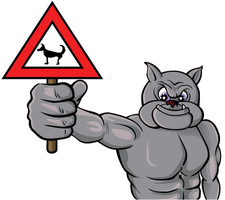 Beware with the dog! Vector