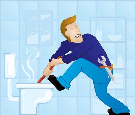 plumber with tools: Plomero el olor del �mbolo Vectores