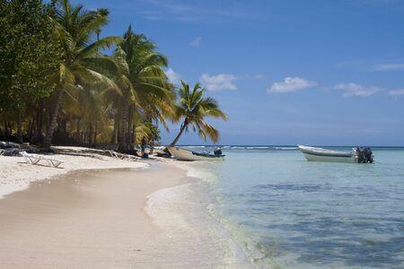 Saona island in the caribbean sea Stock Photo