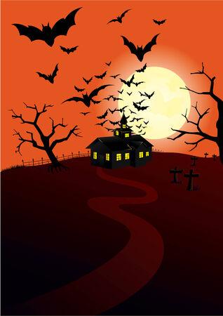 hunted: Hunted house Illustration