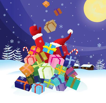 Santa Claus crash by Christmas Stock Vector - 5784769