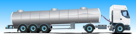 land vehicle: Tanker semi-trailer Truck