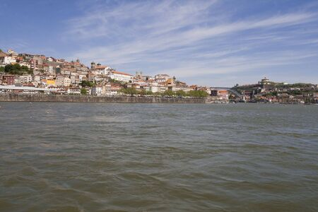 Porto cityscape with D. Luis I bridge in the background, Portugal photo