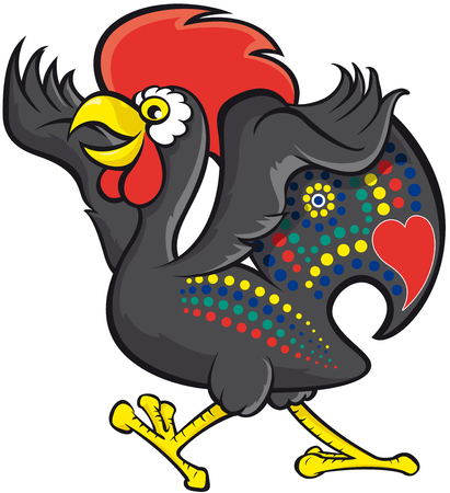 portuguese: Barcelos rooster Illustration