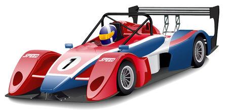 one vehicle: Race Car Illustration