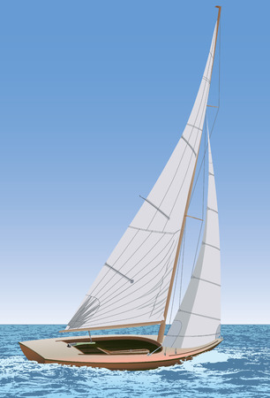 sailing yacht: Sailing Illustration