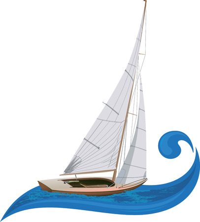sailing vessel: Sailing the wave