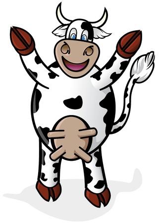 Cartoon Cow Stock Vector - 9348596