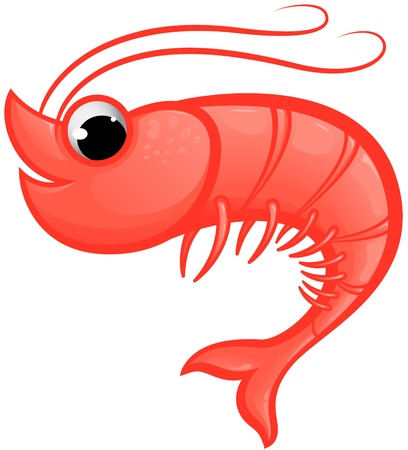 Mascota de camarón Ilustración de vector