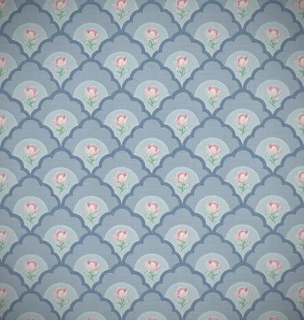flores peque�as: Papel tapiz antiguo retro con peque�as flores