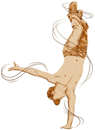breakdancing: Hip Hop Dancer Illustration