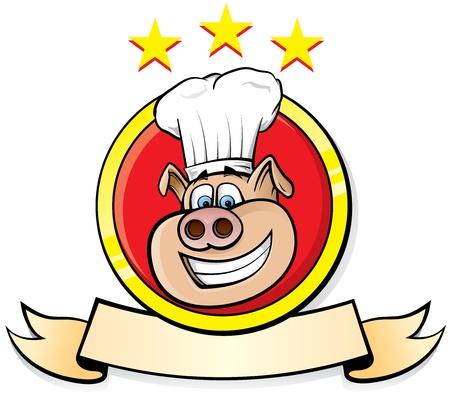 Pig Chef head logo