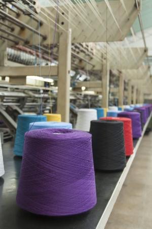 Textile Production - Weaving machine photo