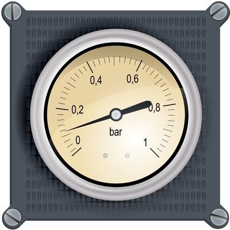 gas gauge: Analog dashboard bar