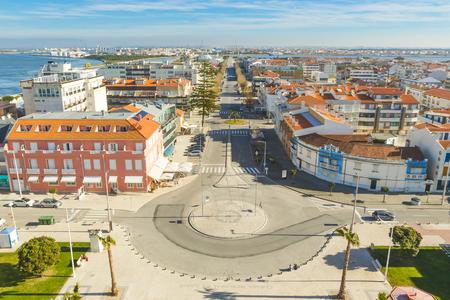 Sky view from the praia da Barra in Ílhavo, Portugal