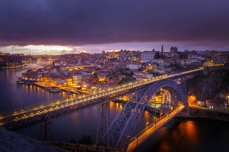 rabelo: View from Oporto city in Portugal