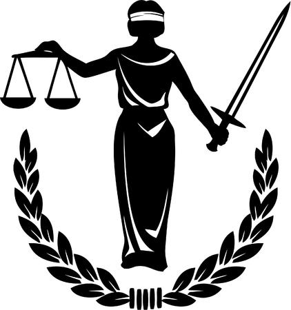 dama de la justicia: Ley y justicia