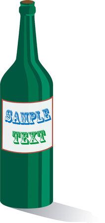 Wine bottle Stock Vector - 2795982