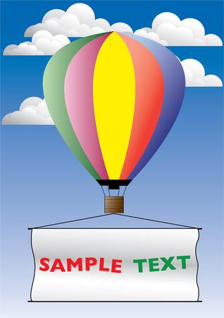 publicit�: Hot air ballon de publicit�