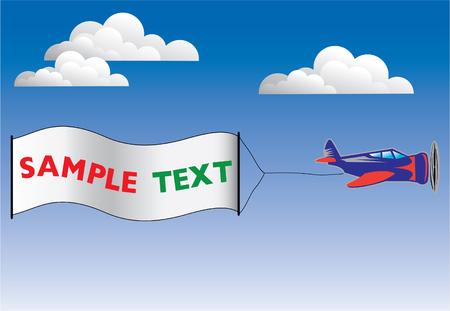 Publicity plane Vector