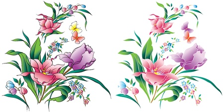 pastel colour: Flower-Vector