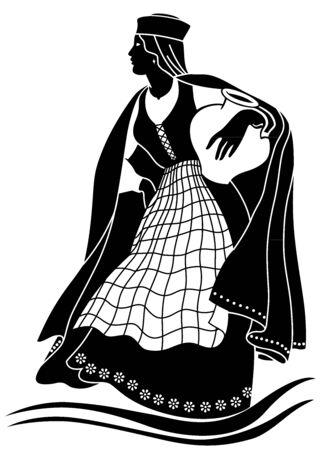 Beautiful women silhouette ilustration Vector