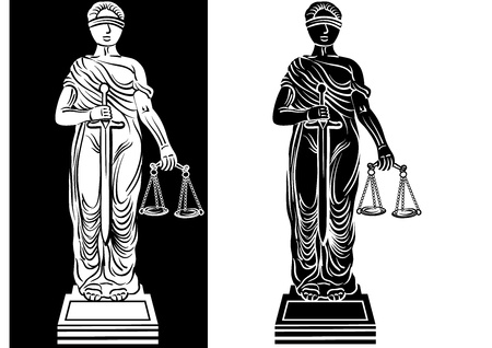 illustration of law and justice