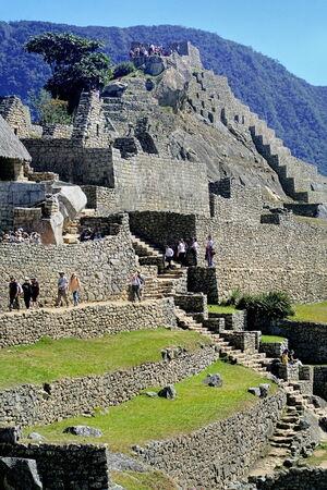 archaeological site: Machu Picchu, Peru - archaeological site Editorial