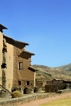 san pedro: Raqchi Inca archaeological site  San Pedro, Peru