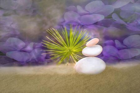 Zen Harmony Moment Stok Fotoğraf