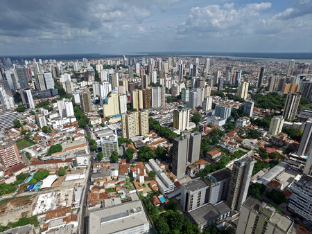 belem: Aerial view of Belem do Para in Brazil Stock Photo