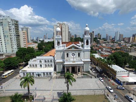 Aerial view Nossa Senhora Nazare Cathedral in Belem do Para, Brazil