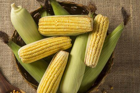 popcorn bowls: Corn maize on a table.