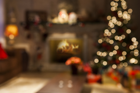 christmas decoration background. Christmas Blurry