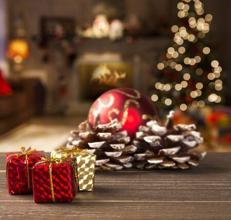 Weihnachtsdekoration Hintergrund. Weihnachten Verschwommen Standard-Bild - 51087215