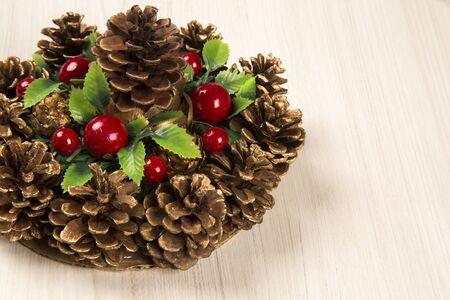 christmas background: christmas decoration background. Christmas Blurry
