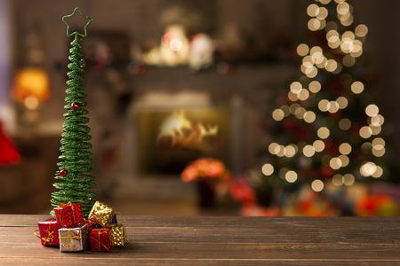 クリスマスの装飾の背景。ぼやけてクリスマス