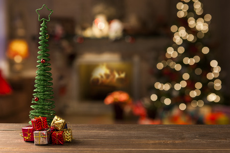 decors: christmas decoration background. Christmas Blurry