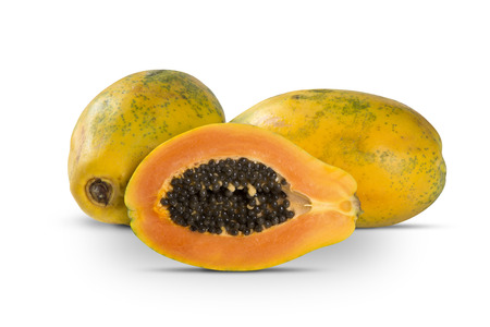 juicy: Fresh cut juicy tropical papaya
