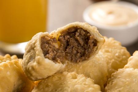 brazilian: Brazilian snack. Meat pastry.