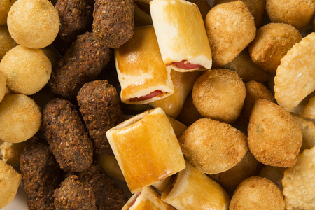 Mixed brazilian snacks Stock Photo