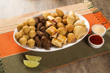 Mixed brazilian snack. Popular dish in Brazil