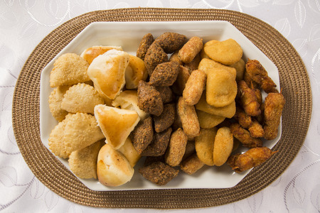 typical: Snacks mixed Brazilian. Fast food typical of Brazil.