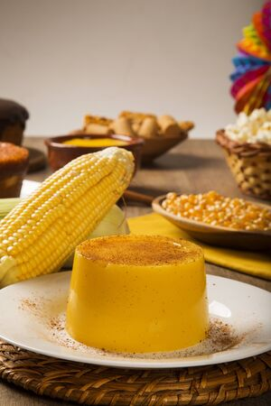 typical: Corn Curau - typical food of green corn - tasty and cheap - typical and popular street food.