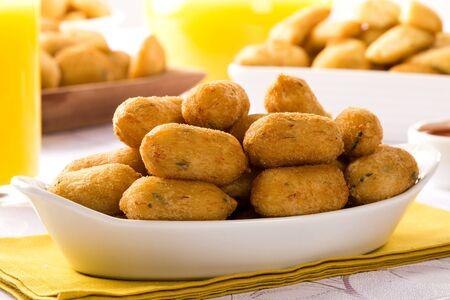 bacalao: salt cod fritters, bunuelos de bacalao.