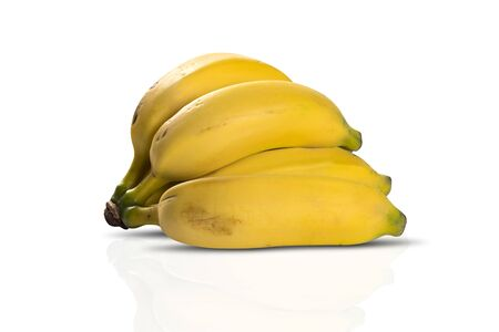 bunch: Bunch of bananas isolated on white background.