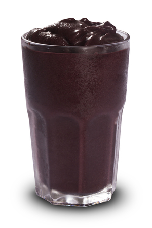 Acai Juice in white background.