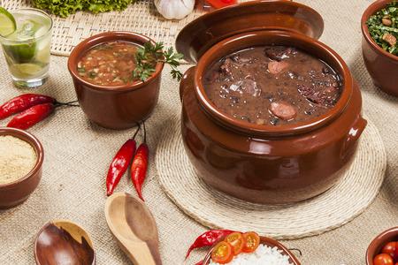 Feijoada, the Brazilian cuisine tradition. Foto de archivo